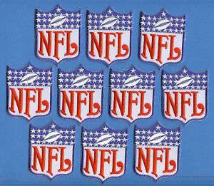 10 Lot Vintage NFL Football Logo Shield Patches Crests