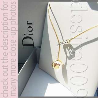 Christian Dior Bottle Lid Pull Tab Pendant Necklace Box