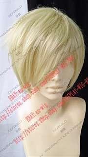 New Fashion Short Light Blonde Cosplay Wigs au wig
