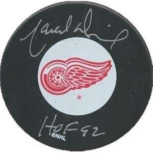Marcel Dionne Autographed/Hand Signed Hockey Puck (Detroit Red Wings