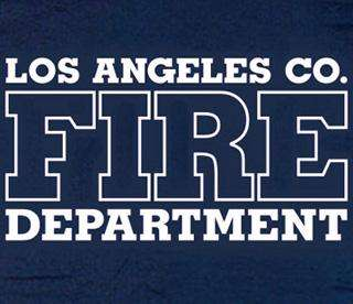 left chest featuring a los angeles county fire department logo
