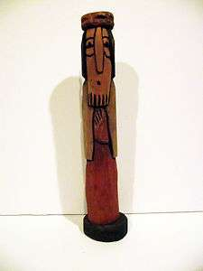 POLISH FOLK ART HAND CARVED PRIMITIVE WOODEN WOOD MAN