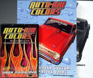 AUTO AIR COLORS USER GUIDE DVD, CATALOG & PRICE LIST