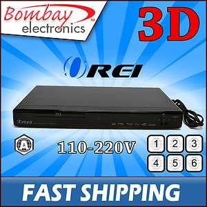 Multi Region Free 2D/3D Blu Ray Player Zone A Only PAL NTSC 110/220V