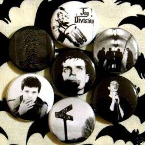 Curtis PUNK pin badge ~7 BUTTON LOT~ post punk Indi new order