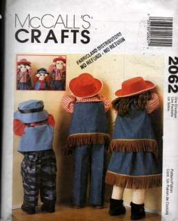 Sewing Pattern Time Out 25 36 Western Doll Clothes