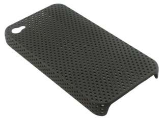 Black HARD SKIN COVER CASE FOR NEW APPLE IPHONE 4 4G WK