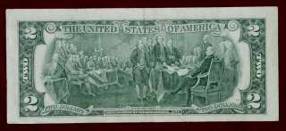 NICE TWO OFF CENTER VINTAGE 1776  1976 US 2 DOLLAR BILL RARE PAPER