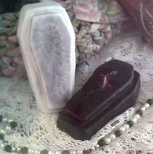 Silicone Halloween Coffin Casket Soap Candle Mold #1