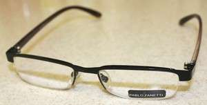 PABLO ZANETTI DESIGNER READING GLASSES 1.00 BLACK 1387