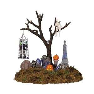 Lemax Spooky Town Village Collection Caged Monster Lighted