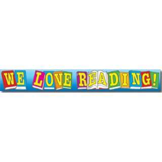 WE LOVE READING! BANNER CHARTLET Toys & Games