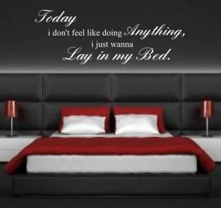 Bruno mars Lazy Song wallsticker lyric,s MURAL QUOTE WALL ART STICKER