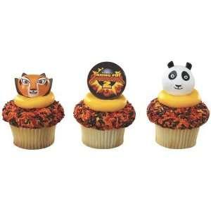 12 CT Kung Fu Panda 2 Cupcake Rings Cake Topper  Toys & Games