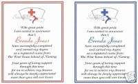 20 Custom Graduation Announcements/Nursing/Nurse/Hat