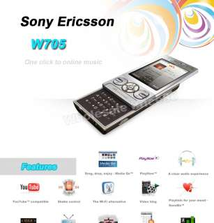 NEW Unlocked Sony Ericsson W705 W705i GSM Mobile Cell Phone FREE
