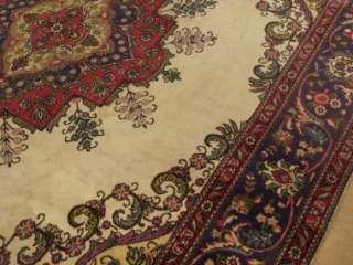 Beautiful Handmade Antique 1940s Persian Tabriz Serapi Wool Large Rug
