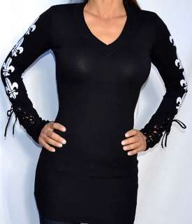 Sinful LENOX Womens Long Sleeve V Neck Sweater Dress   05SW400