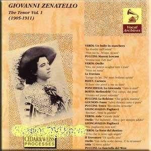 Opera Arias Giovanni Zenatello Music
