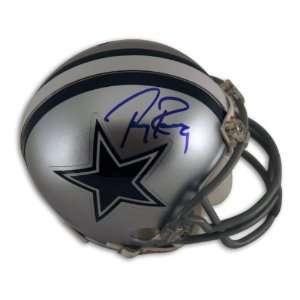 Tony Romo Dallas Cowboys Mini Helmet Autographed   Autographed NFL