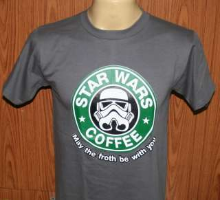 Stars War COFFEE Cotton Women , Mens T Shirt Dark Gray M