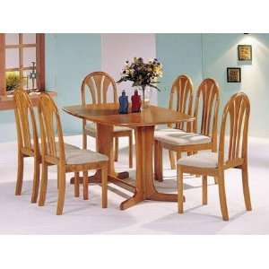 Acme 02190TO CO Stockholm Oak Solid Wood Top Dining Set:
