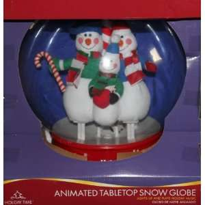 Christmas Musical Snow Globe   11 Inches Tabletop: Home