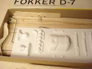 STERLING FOKKER D 7 RUBBER POWERED MODEL AIRPLANE KIT **