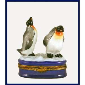 Penguins in Snow French Limoges Box