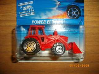 Hot Wheels 1995 POWER PLOWER TRACTOR Red MOC |