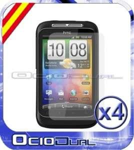 4x PROTECTOR DE PANTALLA PARA HTC WILDFIRE S FILM LCD