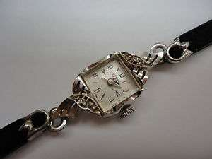 VINTAGE Benrus Diamond 14 K SOLID WHITE Gold LADYS Watch