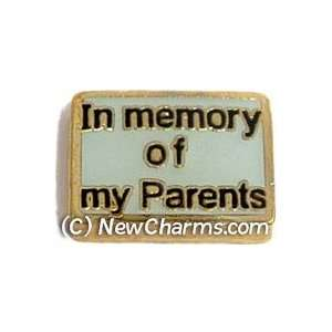 In Memory Of My Parents Floating Locket Charm Jewelry