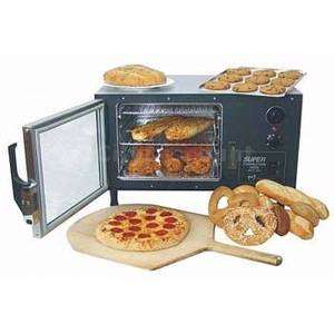 ELECTRIC CONVECTION OVEN W/ 3 WIRE TRAYS & ALUMINUM SHELVES