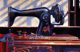 Original Oil painting Still Life artSewing machine30X40