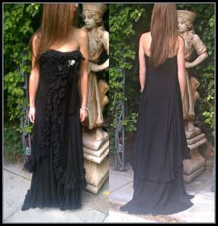 Christian LaCroix Couture Black Strapless Dress Gown Sz 38 & Matching