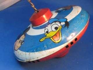 Vintage Chein Walt Disney Spinning Top Mickey / Donald