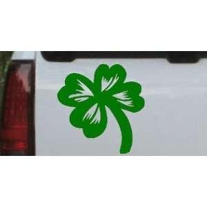 Four Leaf Clover Car Window Wall Laptop Decal Sticker    Dark Green