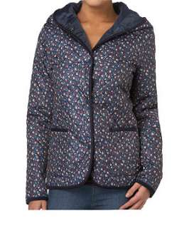 null (Multi Col) Floral Quilted Hooded Jacket  236863599  New Look