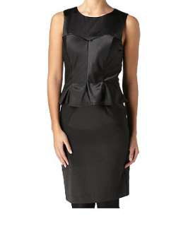 Black (Black) Satin Shift Dress  236182501  New Look