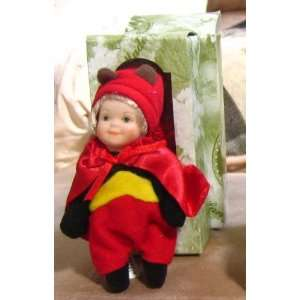 Inch Porcelain Halloween Doll in a Devil Costume Toys & Games