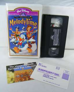 Disney Melody Time 50th Anniversay VHS SP ED Fully Restored