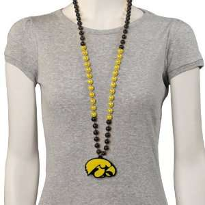 NCAA Iowa Hawkeyes Team Logo Medallion Beads: Home