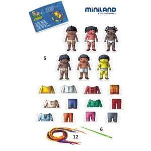 Miniland 6 Style World Kids Sewing Shapes  Toys & Games