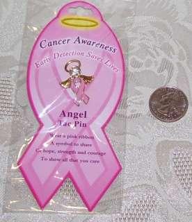 NEW PINK RIBBON ANGEL BREAST CANCER Awareness Pin