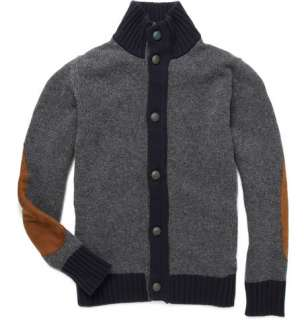 Clothing  Knitwear  Cardigans  Elbow Patch Wool