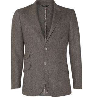 Clothing  Blazers  Single breasted  Two Button Tweed Blazer