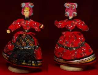 Hungarian folk costume doll Mezokovesd Hungary Matyo