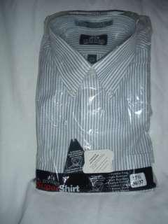 Mens New Stafford Blue stripe dress Shirt wrinkle free