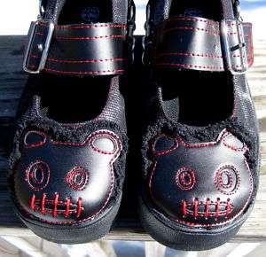 TUK Red ACID Black ZOMBIE TEDDY BEAR MARY JANE Sneakers